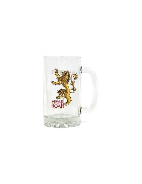 Jarra de cerveza de cristal Juego de Tronos: Lannister
