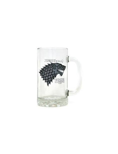 Jarra de cerveza de cristal Juego de Tronos: Stark