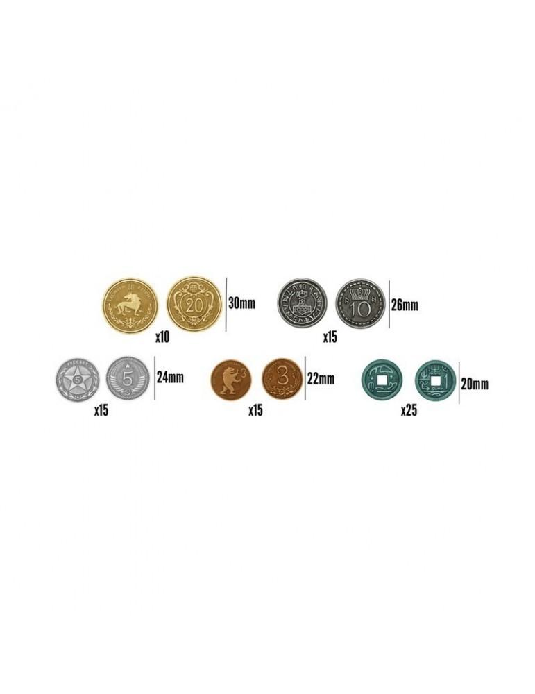 80 monedas metálicas para Scythe