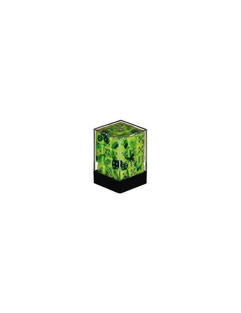 Caja de 36 dados Chessex de 6 caras 12 mm Gémini (Verde/Amarillo/Plata)