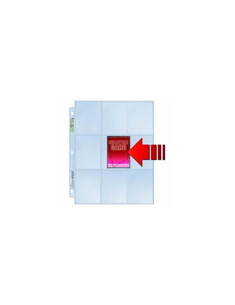 Caja de hojas Ultra Pro 9 bolsillos de carga lateral con fondo transparente (100 unidades)