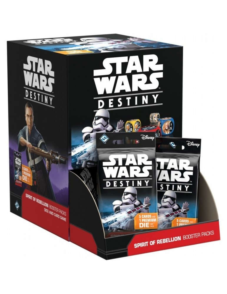 Star Wars: Destiny - Spirit of Rebellion Booster Display (Inglés)