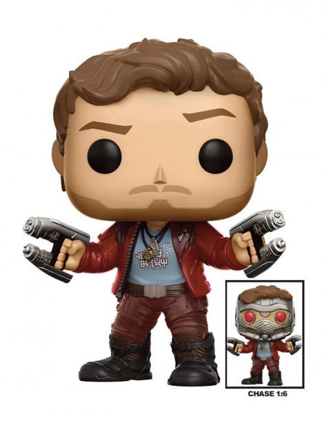 Figura Pop Guardianes de la Galaxia Vol. 2: Star-Lord (Chase) 9 cm