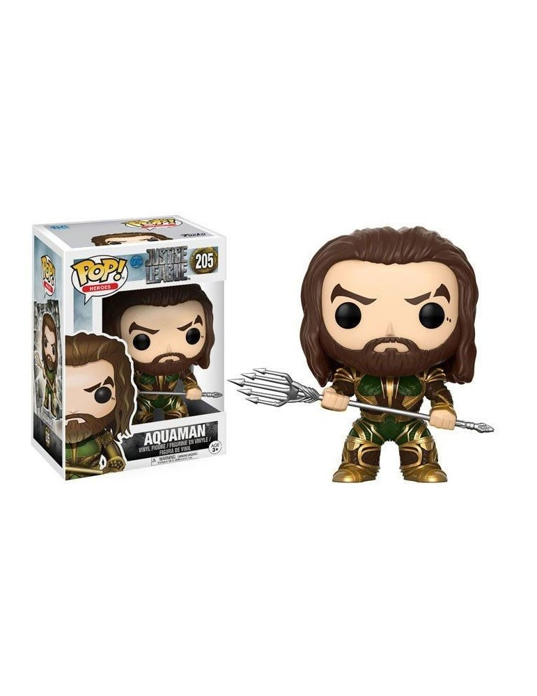Figura Pop Justice League Aquaman (Armored) 9 cm