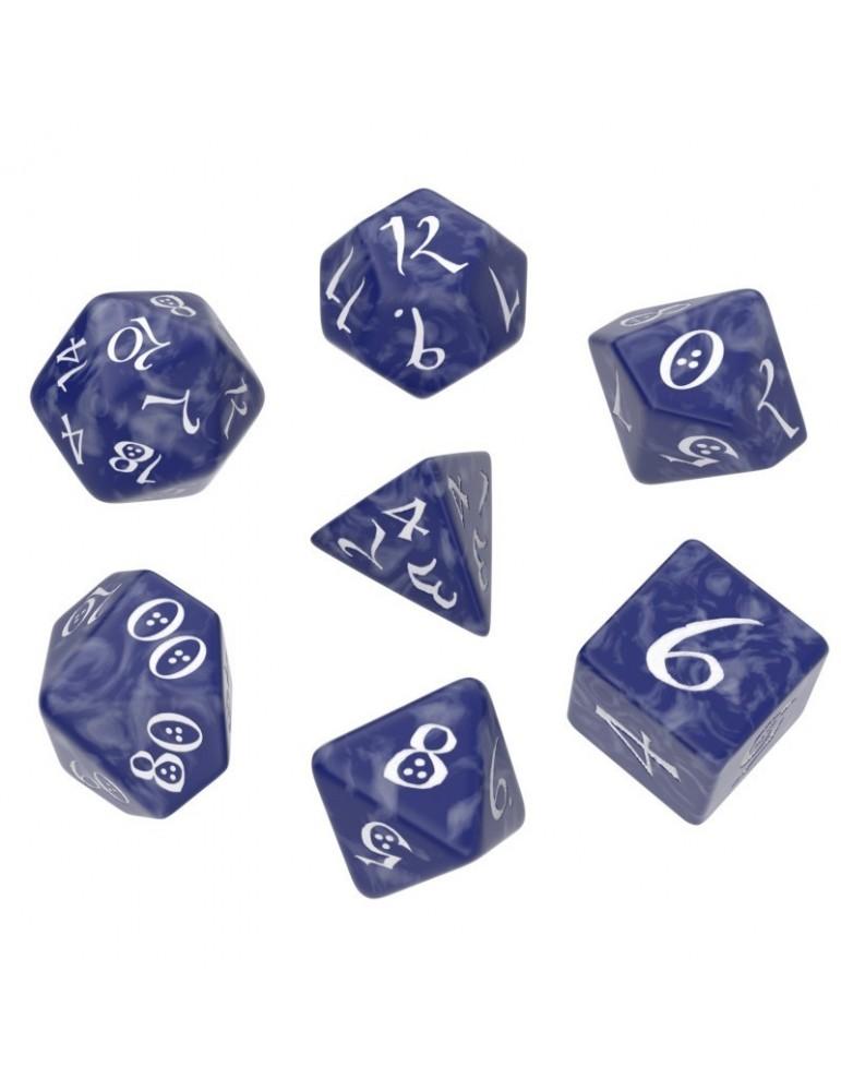 Set de dados Classic RPG Cobalto y Blanco (7 unidades)
