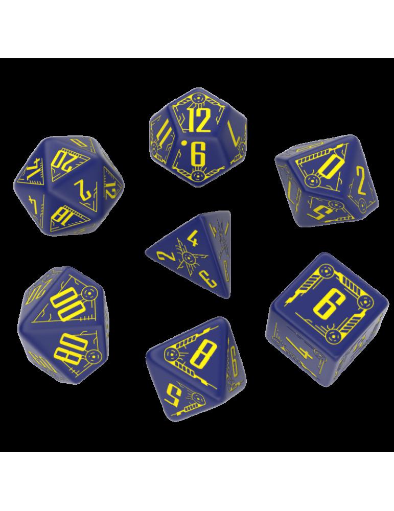 Set de dados Galactic Navy y Amarillo (7 unidades)