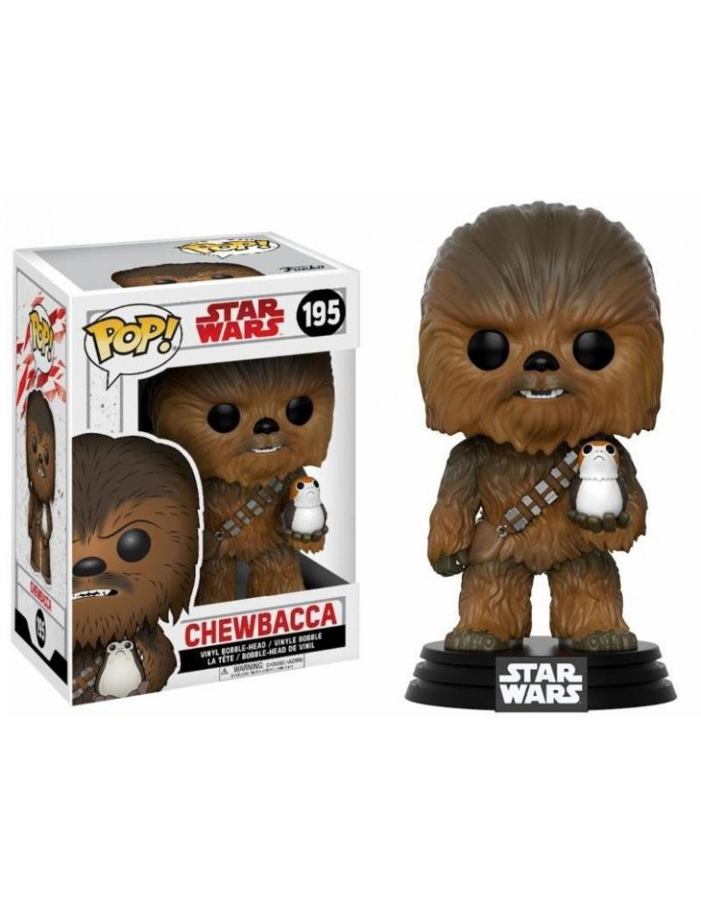 Figura Pop Star Wars Episode VIII: Chewbacca & Porg 9 cm