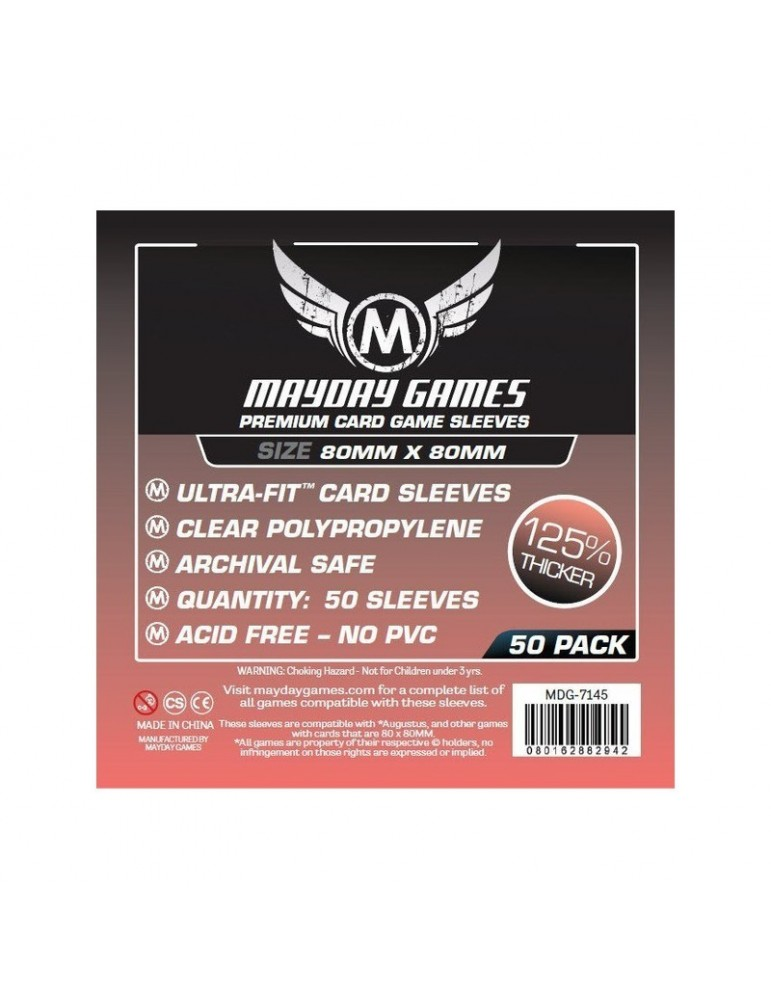 Fundas Mayday Cuadrada Mediana Premium 80x80 mm (50 unidades)