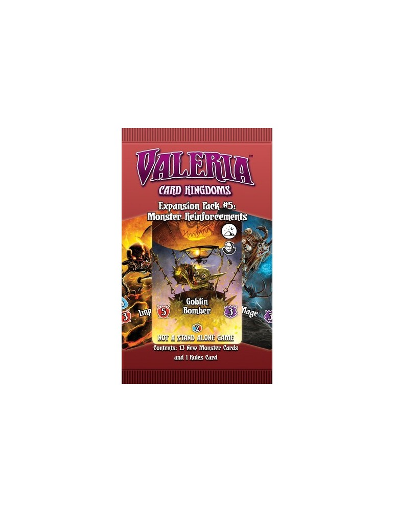 Valeria: Card Kingdoms - Expansion Pack 05: Monster Reinforcements