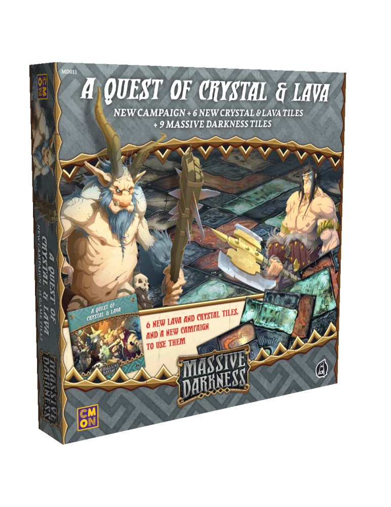 Massive Darkness: A Quest of Crystal & Lava (Inglés)
