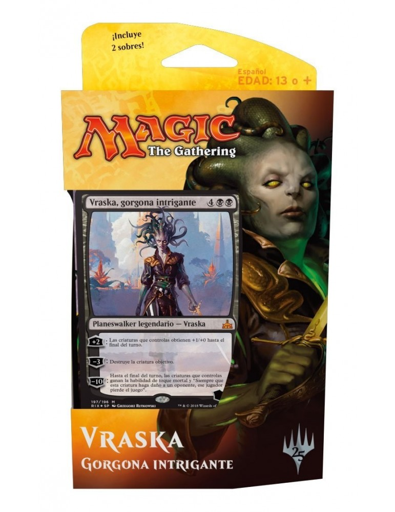 Magic the Gathering: Rivales de Ixalan - Mazo de Planeswalker Vraska, gorgona intrigante
