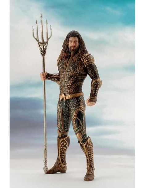 Estatua Justice League Movie Art Fx+ Aquaman 19,5 cm