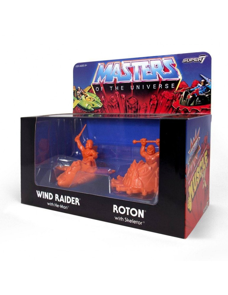 Pack de 4 Figuras Masters of the Universe: MUSCLE Orange SDCC 2017 4 cm