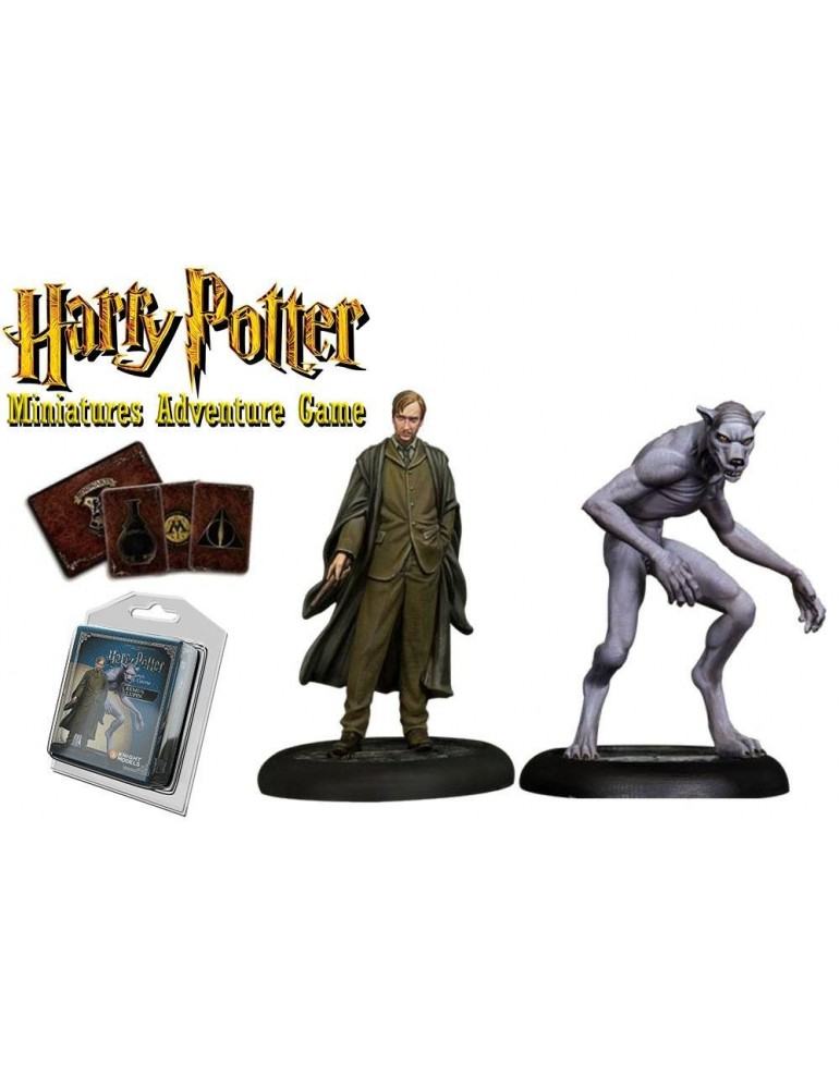 Harry Potter Miniatures Adventure Game: Remus Lupin y Remus Hombre Lobo
