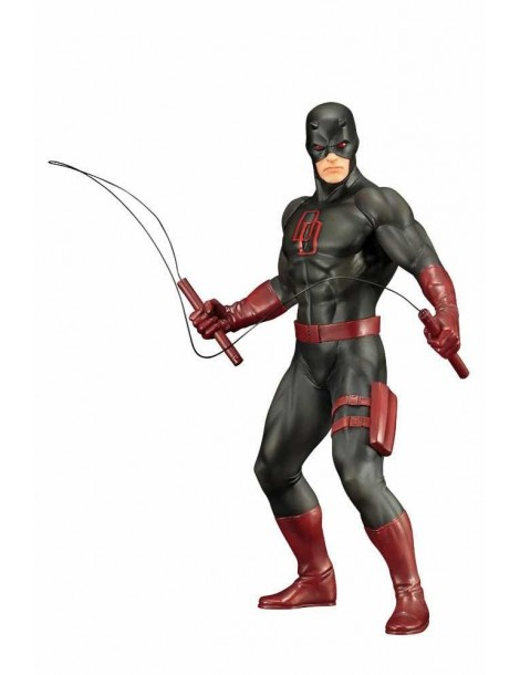 Figura The Defenders Series Marvel Art Fx+: Daredevil Traje Negro 18.5 cm