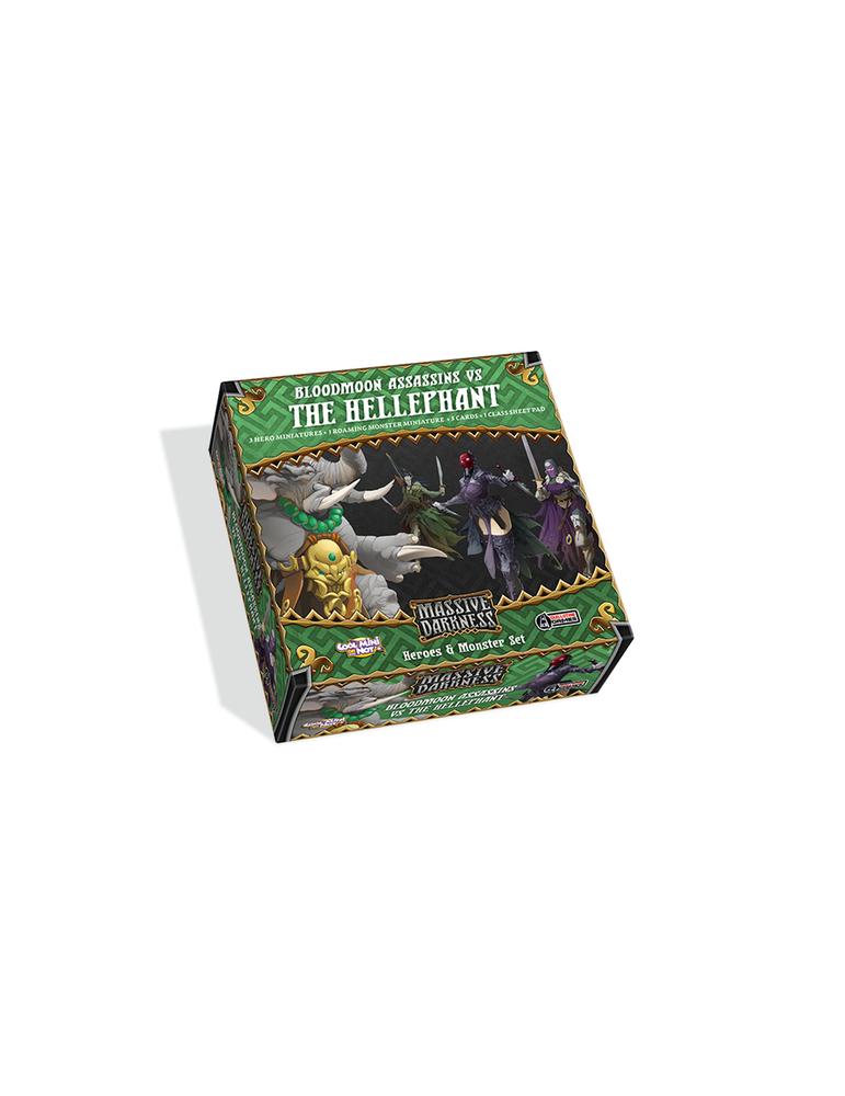 Massive Darkness: Heroes & Monster Set - Bloodmoon Assassins vs The Hellephant (Inglés)