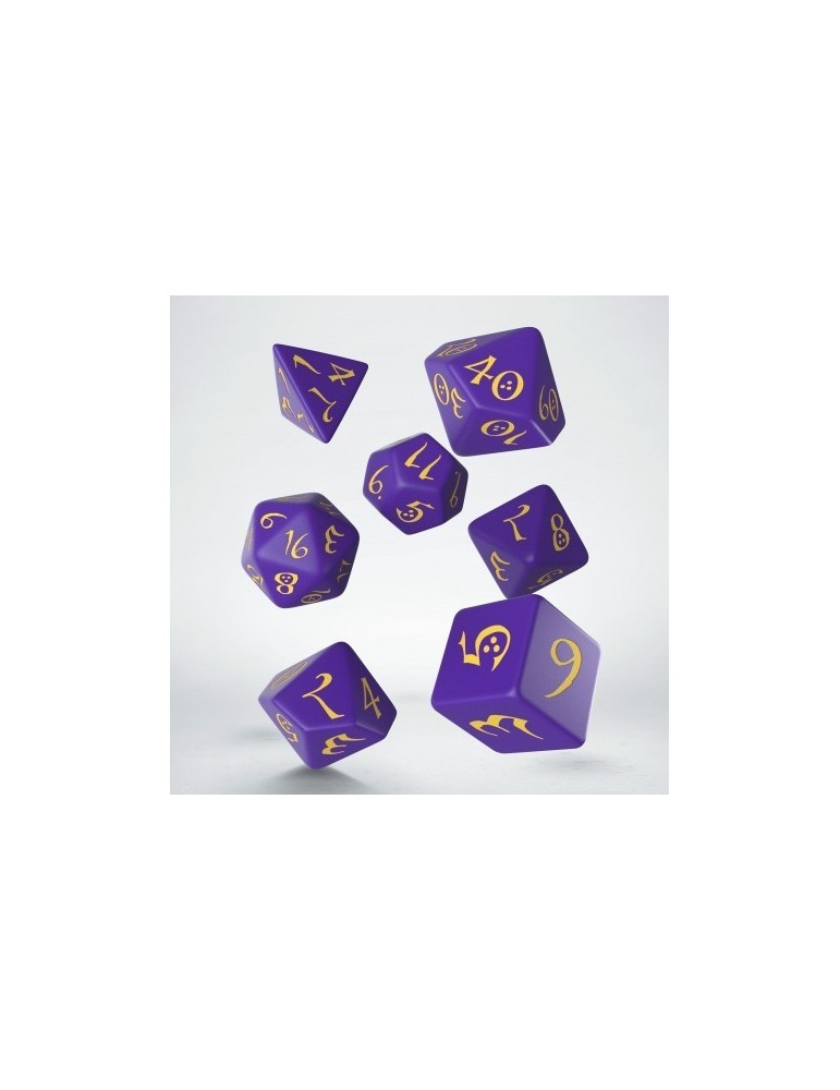Set de Dados Classic RPG Purple & Yellow (7)