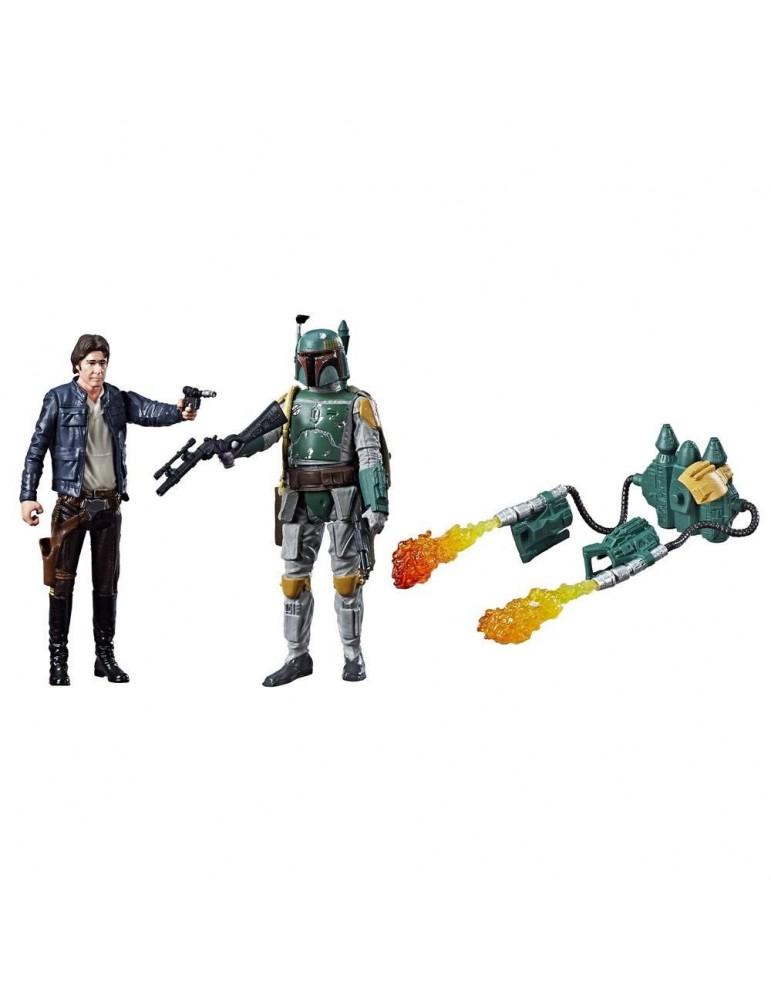 Pack 2 Figuras Star Wars Force Link: Han Solo & Boba Fett (Episode IV) 10 cm