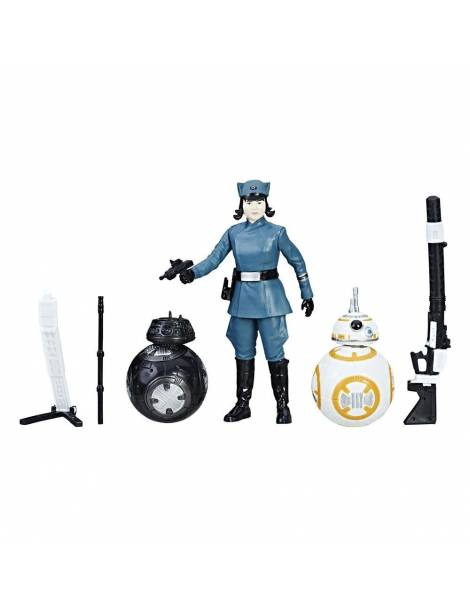 Pack 2 Figuras Star Wars Force Link: Rose (First Order Disguise) & BB-8 & BB-9E (Episode VIII) 10 cm