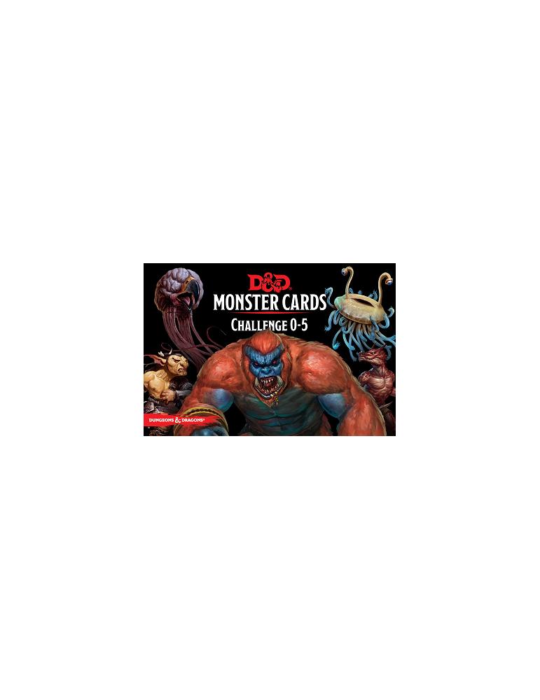 Dungeons & Dragons Monster Cards: Challenge 0-5 (Inglés)
