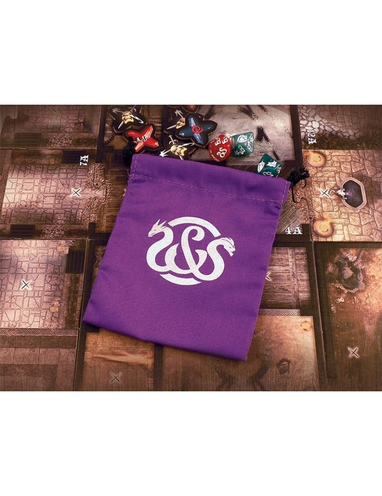 Bolsa para dados Sword & Sorcery Purple Critical Hits