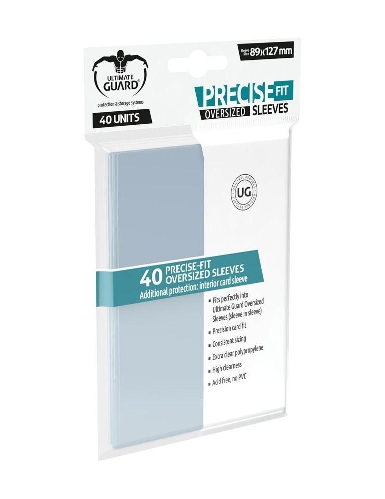 Fundas de Cartas Ultimate Guard Precise-Fit Sleeves Tamaño Oversized Transparente (40)