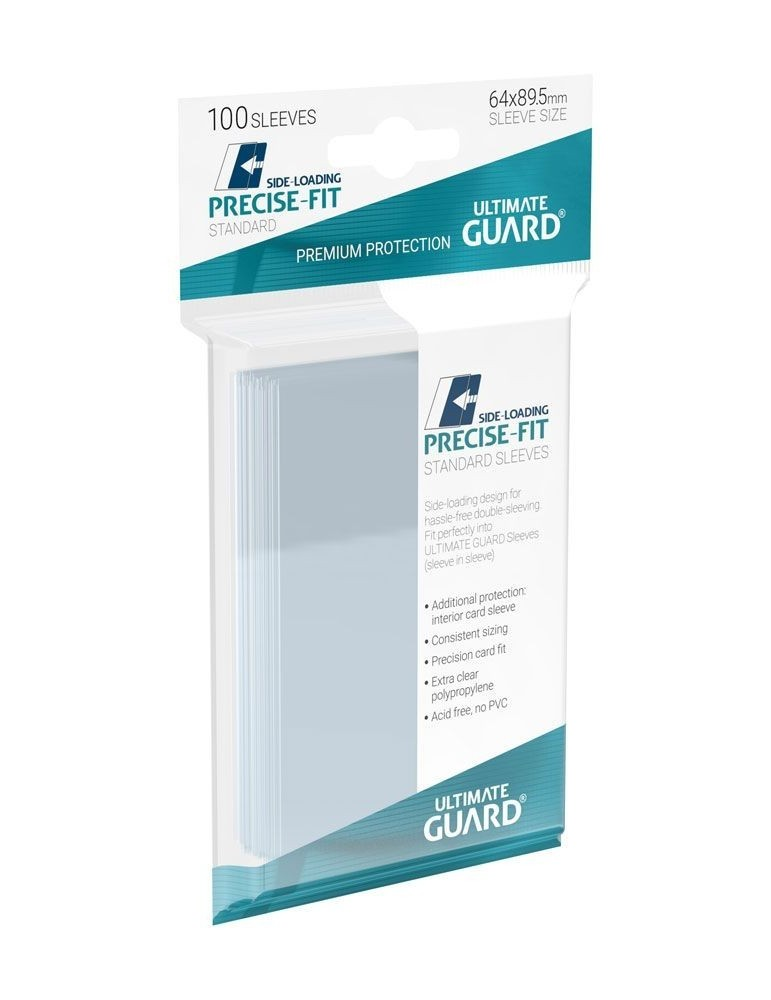 Fundas de Cartas Ultimate Guard Precise-Fit Sleeves Side-Loading Tamaño Estándar Transparente (100)