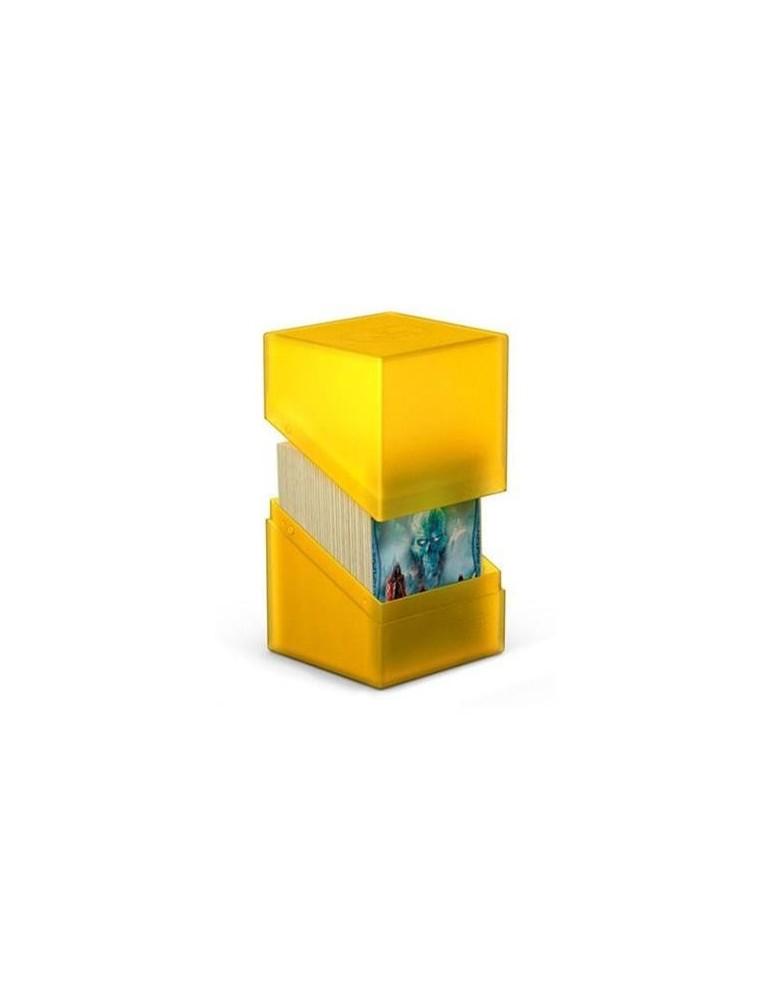 Caja de Cartas Ultimate Guard Boulder Deck Case 100+ Tamaño Estándar Ámbar