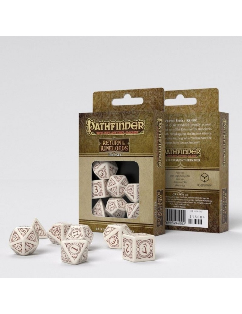 Set de dados Pathfinder Playtest: Return of the Runelords (7)