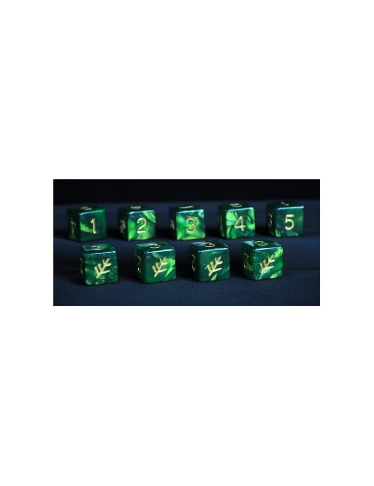 Set de dados Elder Dice: Green Lovecraft (6 caras)