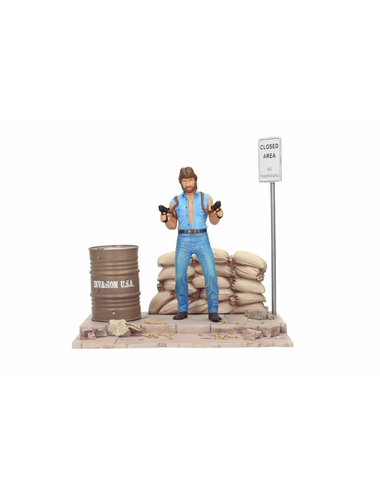 Diorama Chuck Norris: Set de lujo Matt Hunter Tough Guy MGM 18 cm