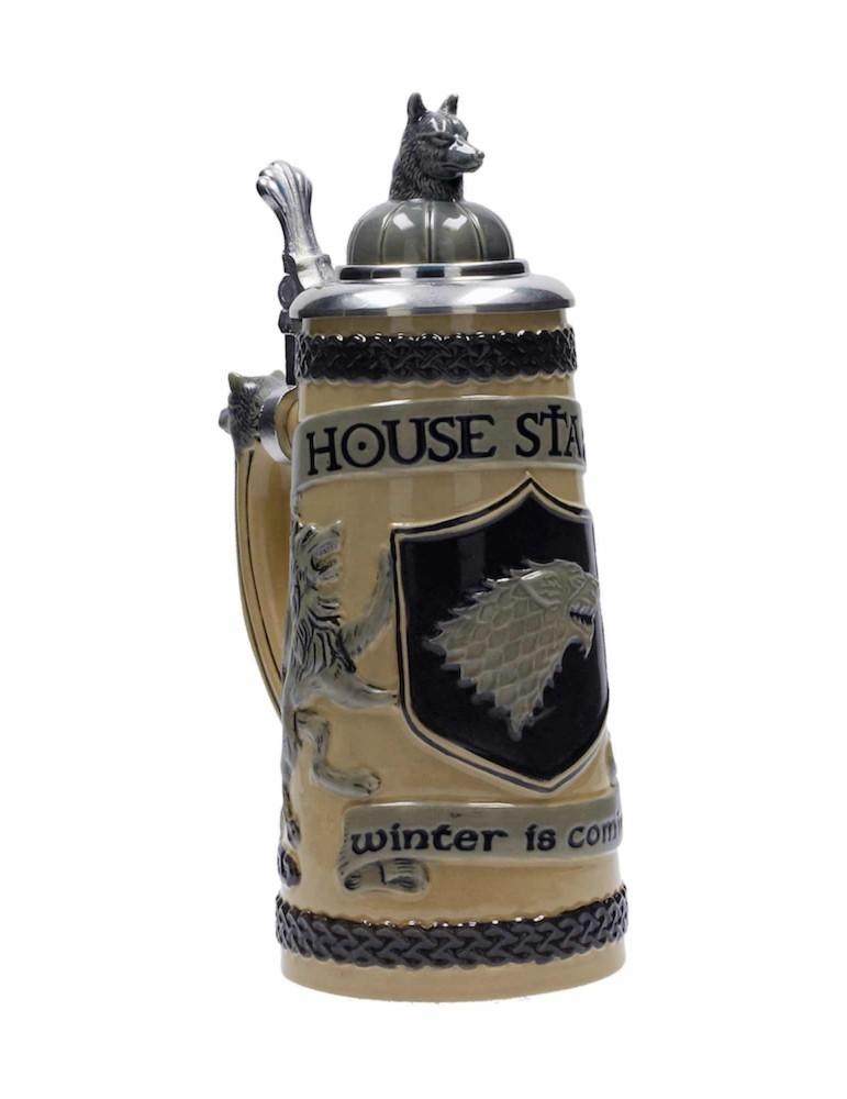 Jarra Ceramica Relieve con Tapa Game of Thrones: Casa Stark