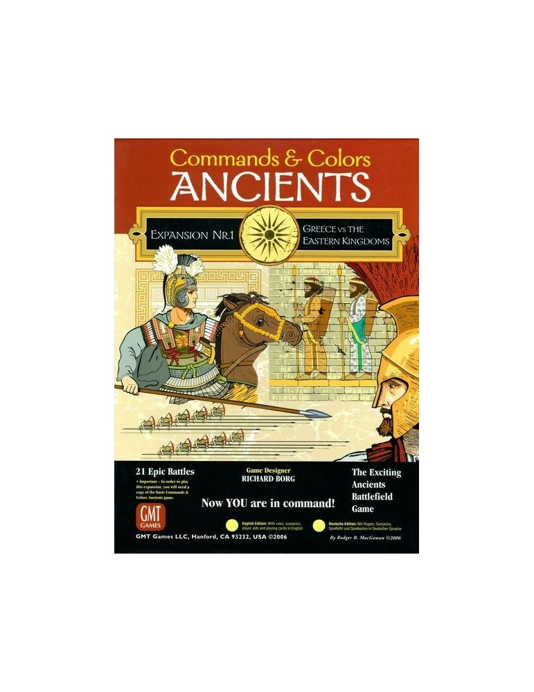 Commands & Colors: Ancients Expansion Pack 1 - Greece & Eastern Kingdoms (3rd Printing)