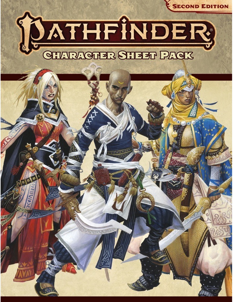 Pathfinder: Second Edition - Character Sheet Pack (Inglés)