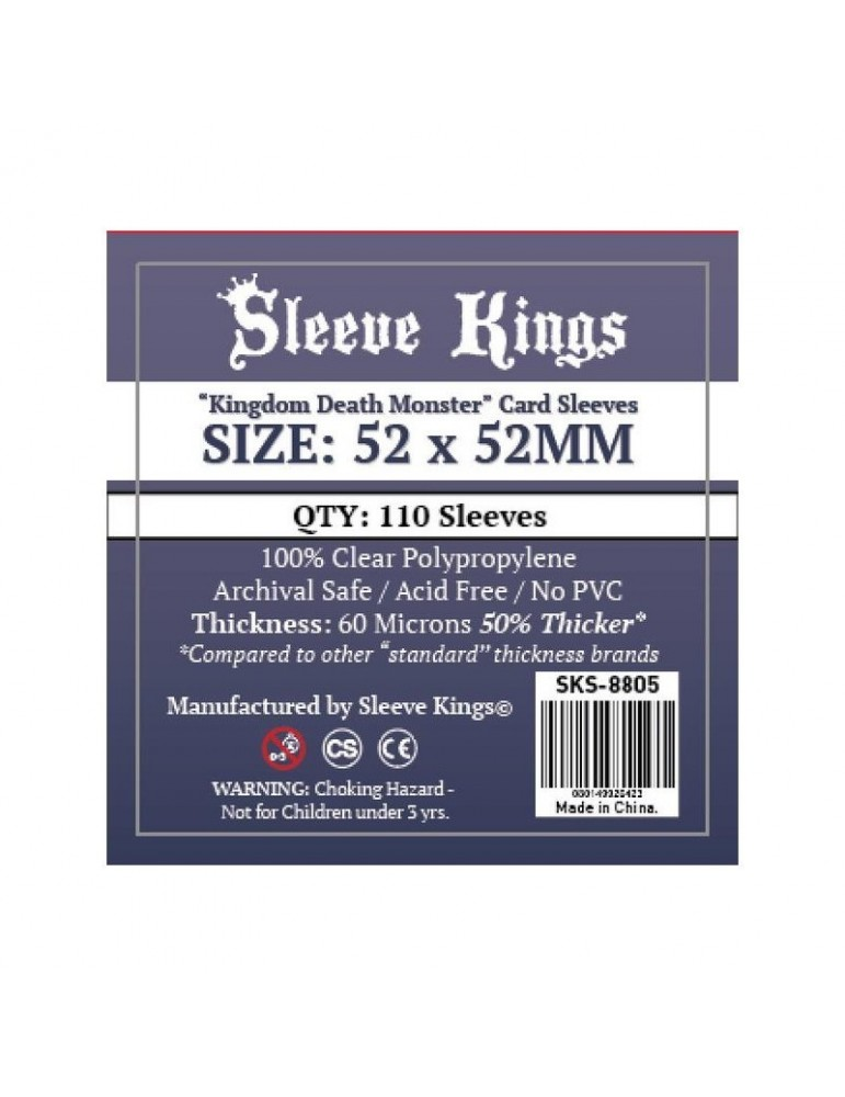 Fundas Sleeve Kings Kingdom Death Monster Card Sleves (52 X 52mm) (110 unidades)