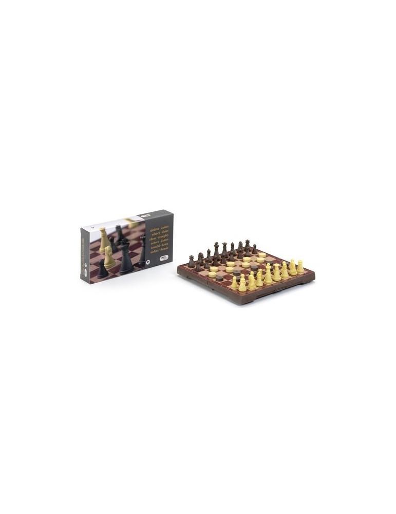 Ajedrez / Damas magnético deluxe 32 x 32