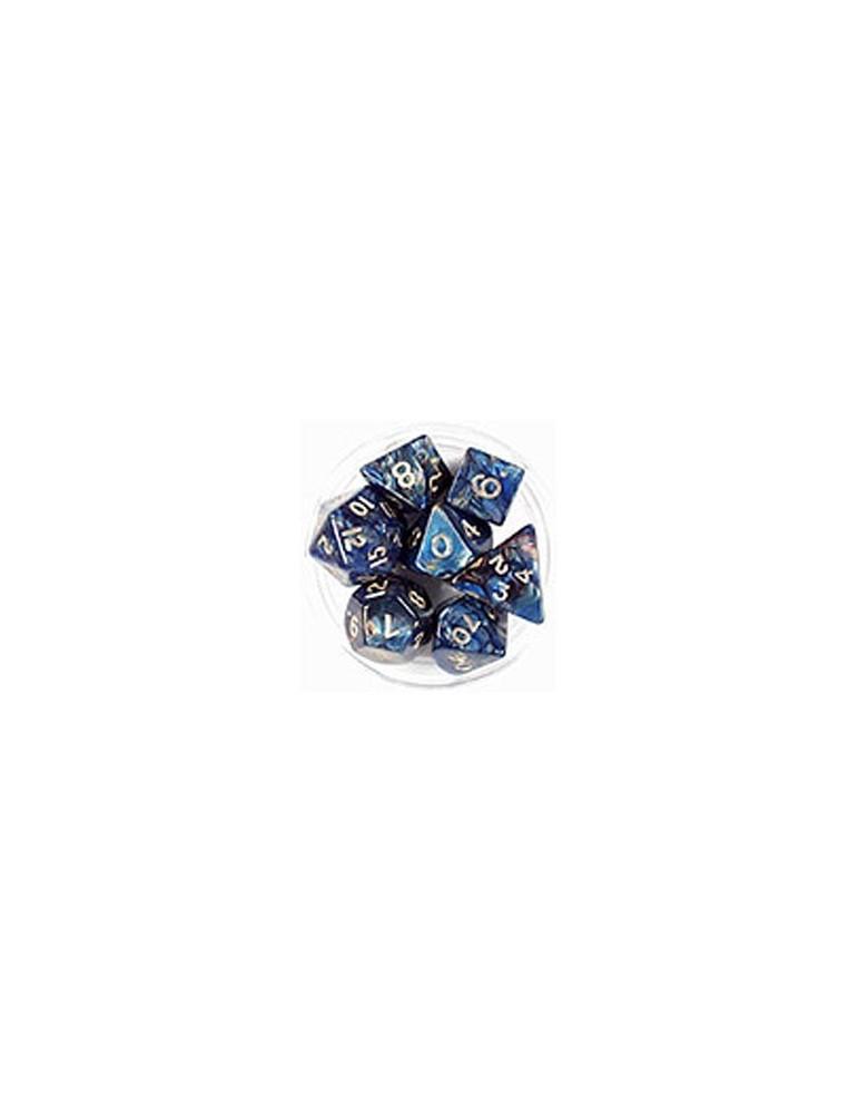 Caja 7 dados magma azul