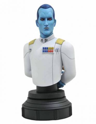 Mini Busto de Resina Star Wars Rebels Animated: Grand Admiral Thrawn 15 cm
