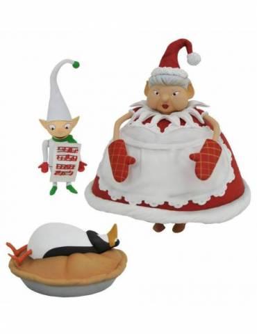 Set de 2 Figuras Pesadilla antes de Navidad Serie 10: Mrs. Claus with Choir Elf
