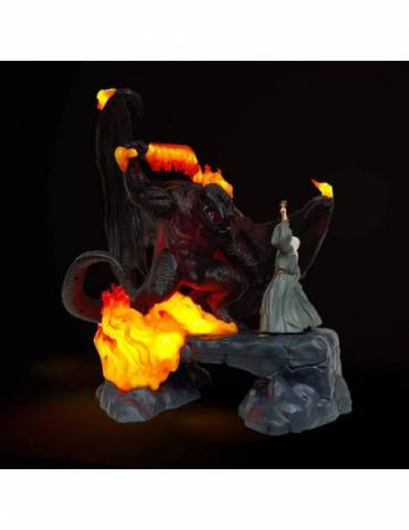 Figura El Señor de los Anillos Lámpara LED USB The Balrog Vs Gandalf 41 cm