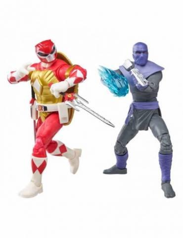Set de 2 figuras Power Rangers x TMNT Lightning Collection: Foot Soldier Tommy & Morphed Raphael