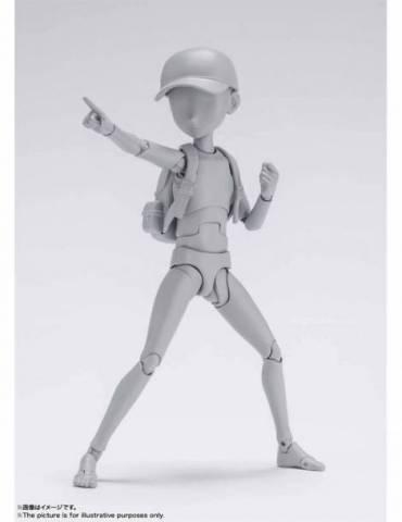 Figura Body Kun Ken Sugimori SH Figuarts: Niño DX Set Color Gris 13 cm