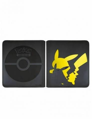Álbum de 12 Bolsillos Ultra pro: Elite Series Pikachu Pokémon (Para 240 Cartas)