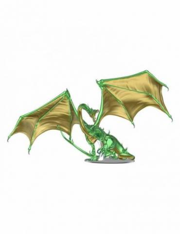 D&D Icons of the Realms: Premium Adult Emerald Dragon 36 cm