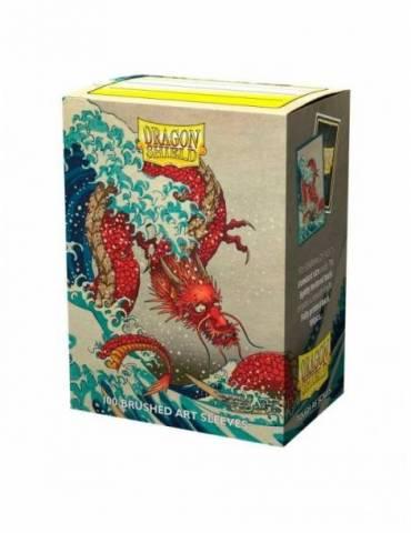 Fundas Standard Dragon Shield: The Great Wave - Color Transparente (100)