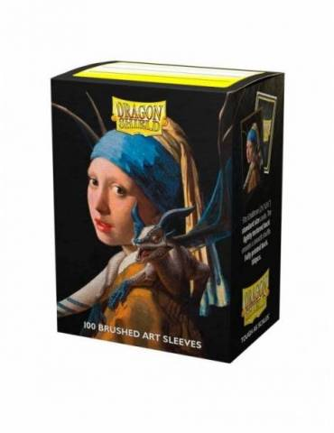 Fundas Standard Dragon Shield: Girl With A Pearl Earring - Color Transparente (100)