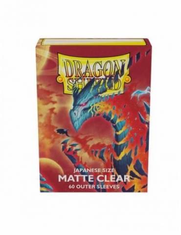 Fundas Japanese Matte Transparente Dragon Shield - Paquete De 60