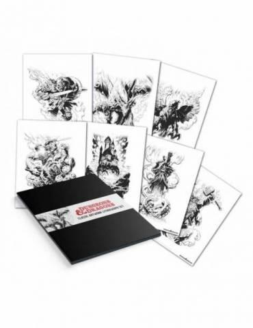 Set de 7 Litografías Dungeons & Dragons 36 x 28 cm