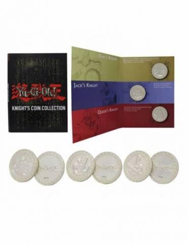 Pack de 3 Monedas Yu-Gi-Oh! Monedas Knights