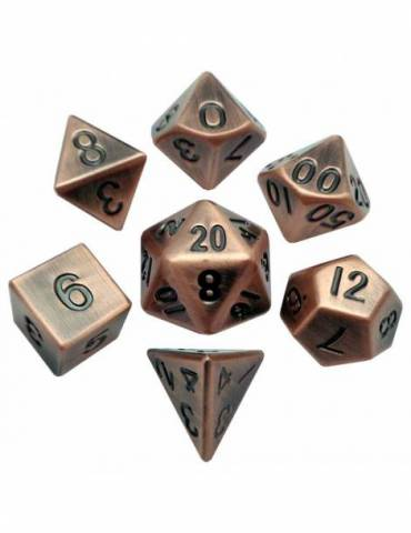Set de dados Metal Antique Copper 16mm (7)